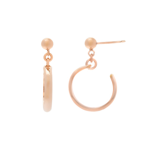 Cuff Hoops - Rose Gold