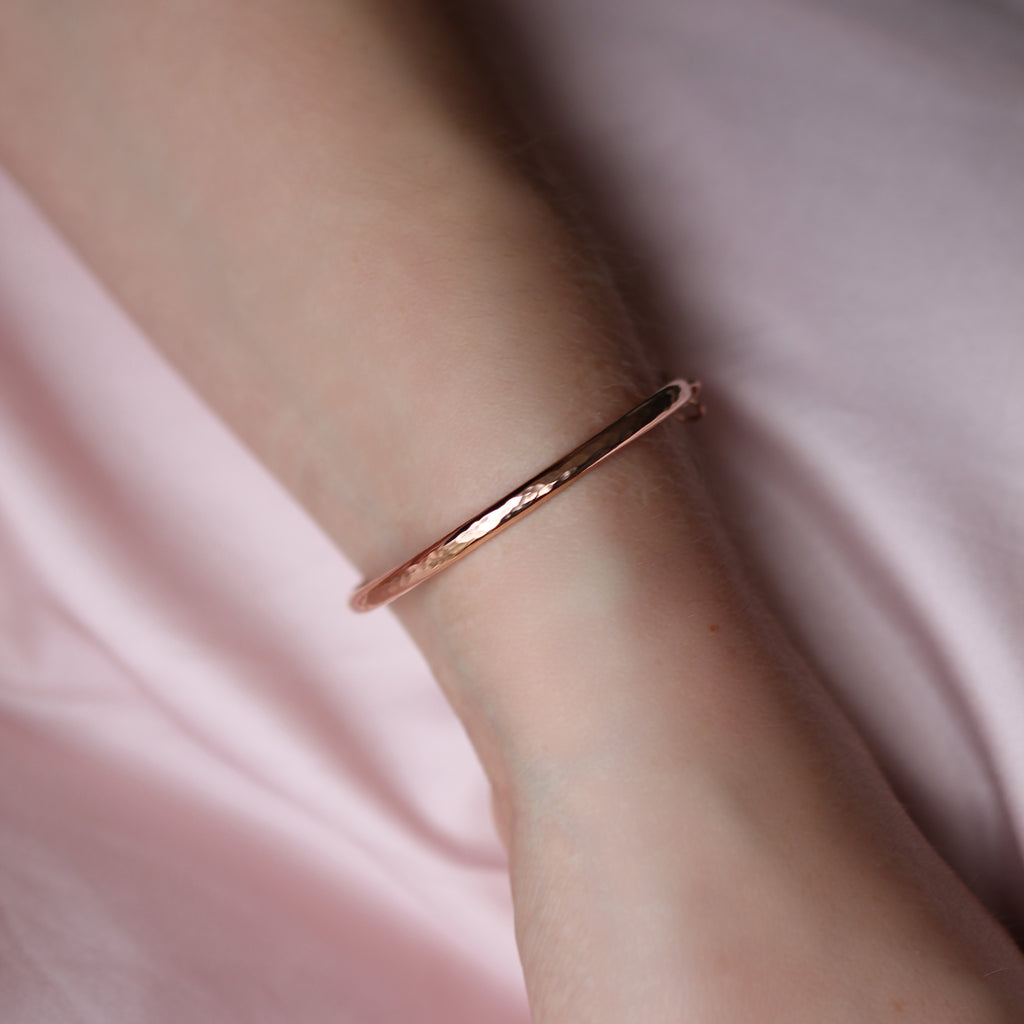 Hammered Cuff - Rose Gold