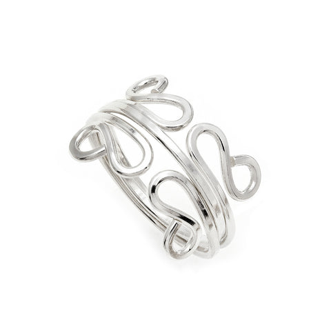 Filigree Stacking Rings - Silver