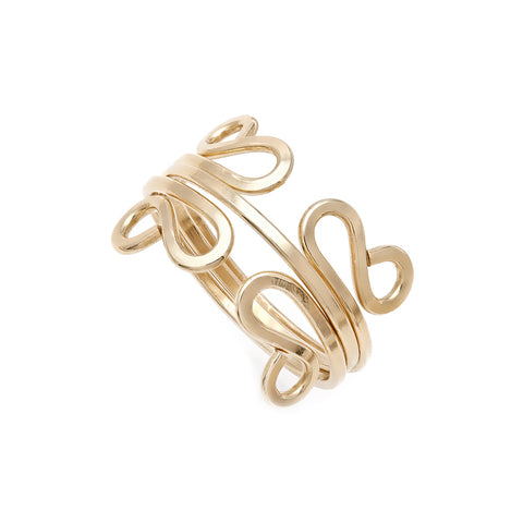 Filigree Stacking Rings - Gold