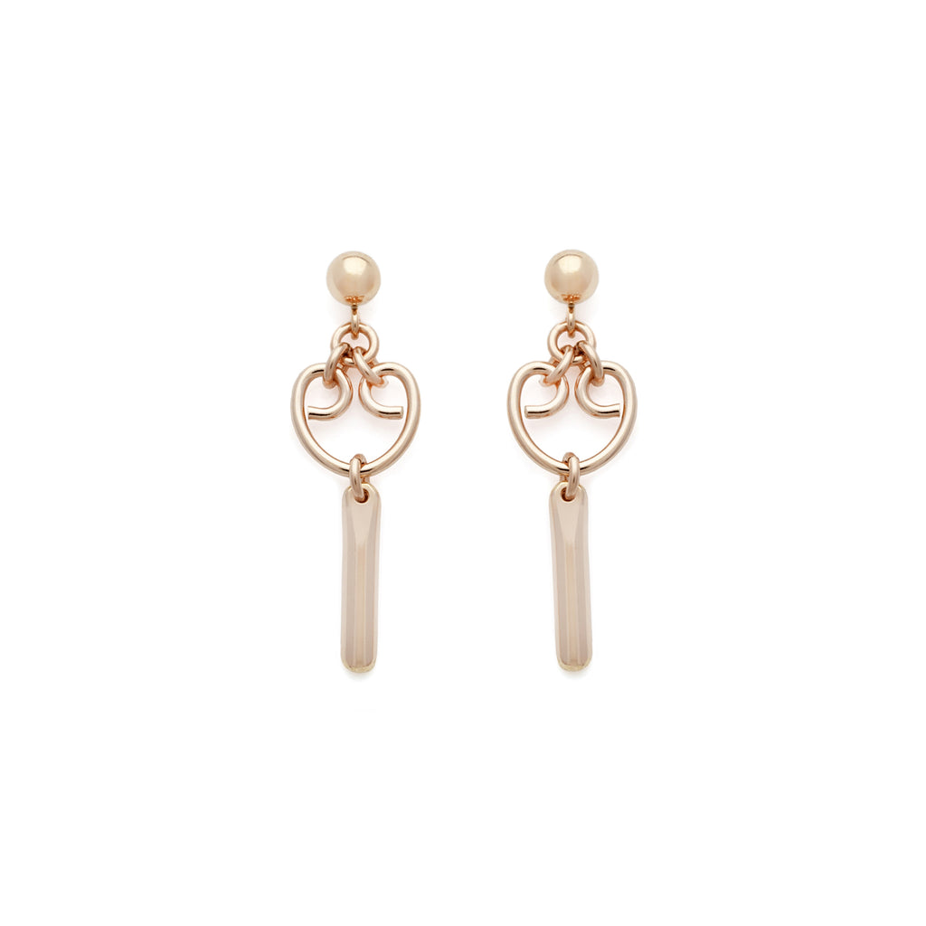 Mini Alice Earrings - Rose Gold