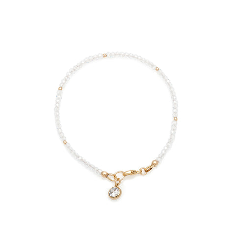 Loft Bracelet - Gold with Cubic Zirconia