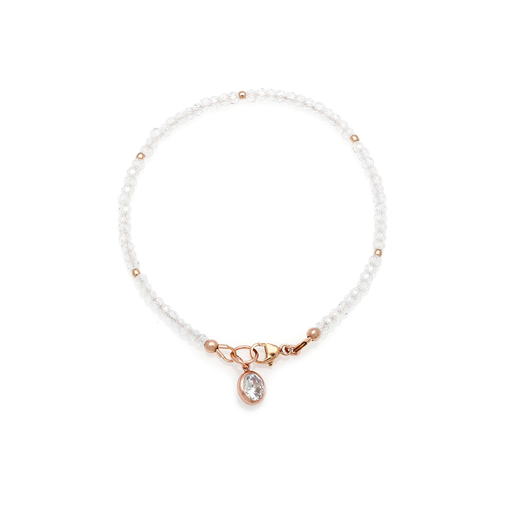 Loft Bracelet - Rose Gold with Cubic Zirconia