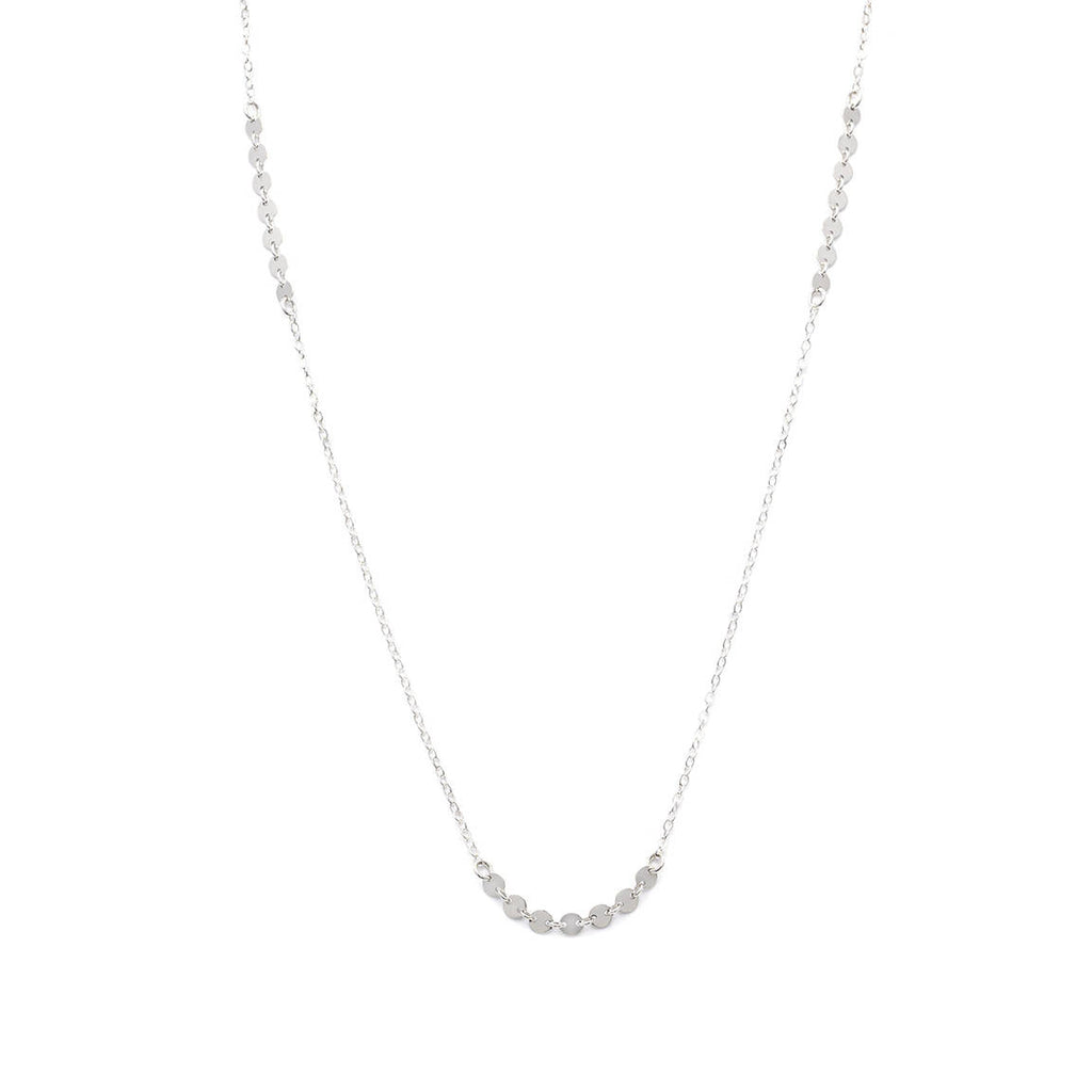 Coin Chain Necklace - Silver