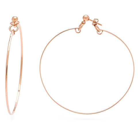Valour Hoops - Rose Gold