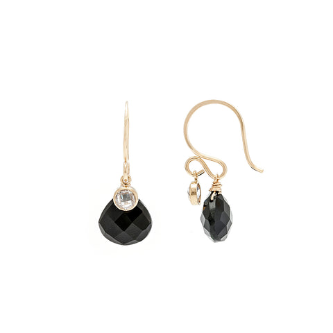 Loft Earrings - Gold with Black Onyx