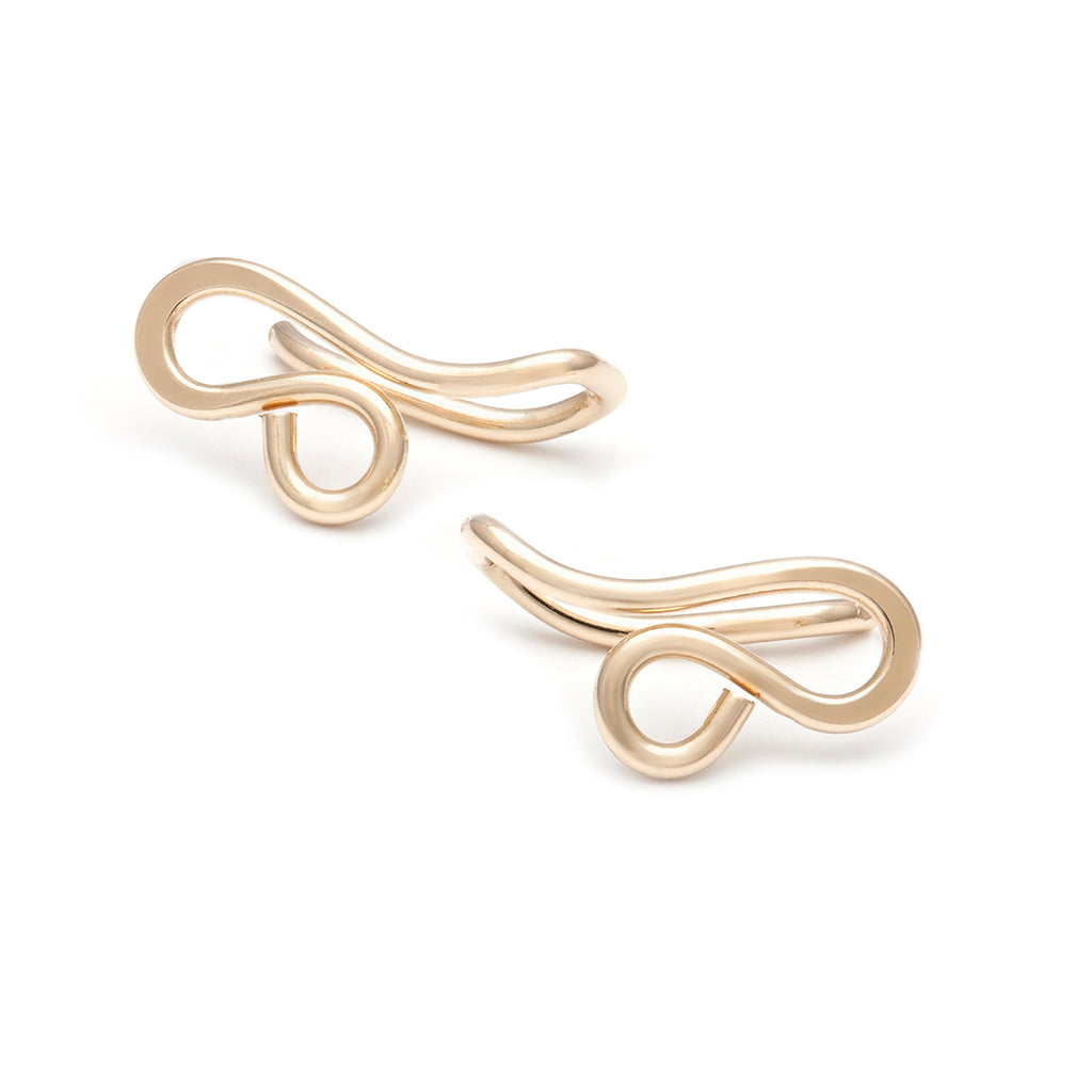 Mini Filigree Ear Climbers - Gold