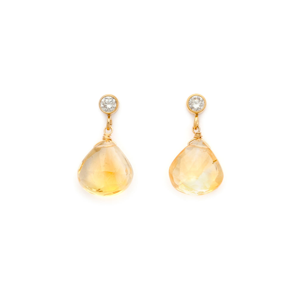 Floret Earrings - Citrine