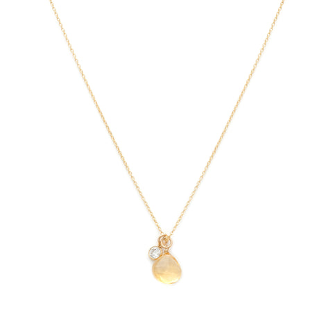 Floret Necklace - Citrine