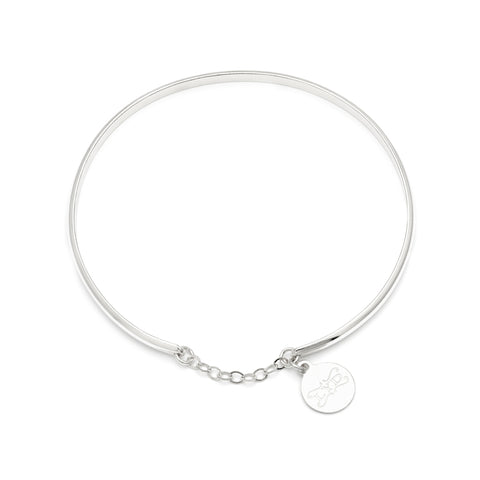 Glamour Bangle - Silver
