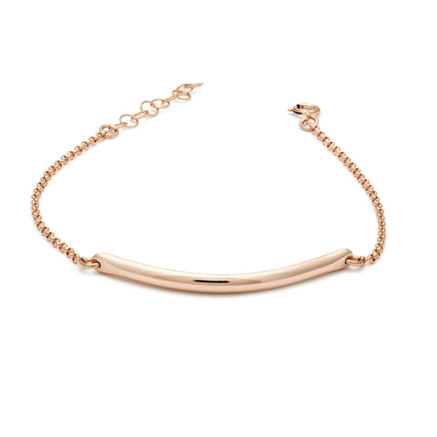 Glamour Bar Bracelet - Rose Gold
