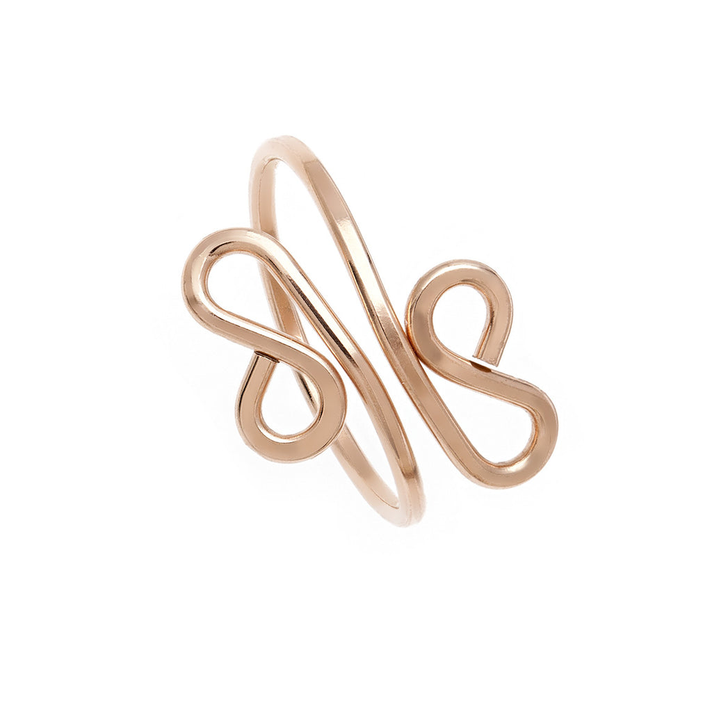 Filigree Midi Ring - Rose Gold