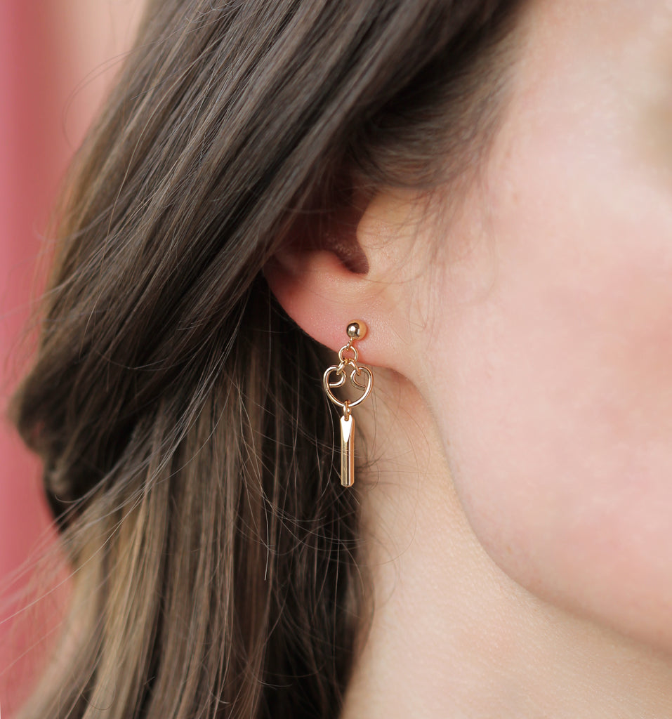 Mini Alice Earrings - Gold