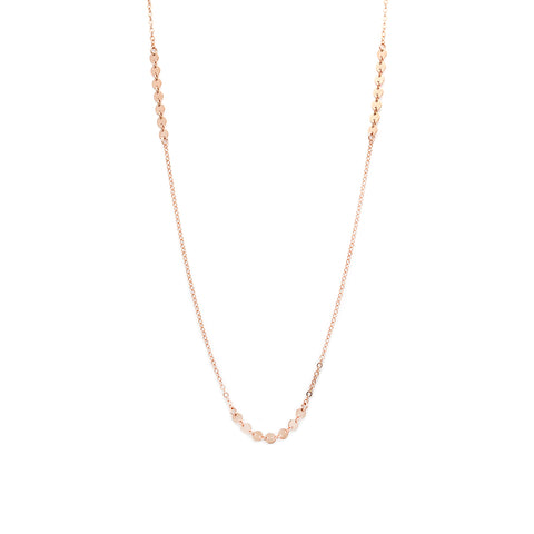 Coin Chain Necklace - Rose Gold