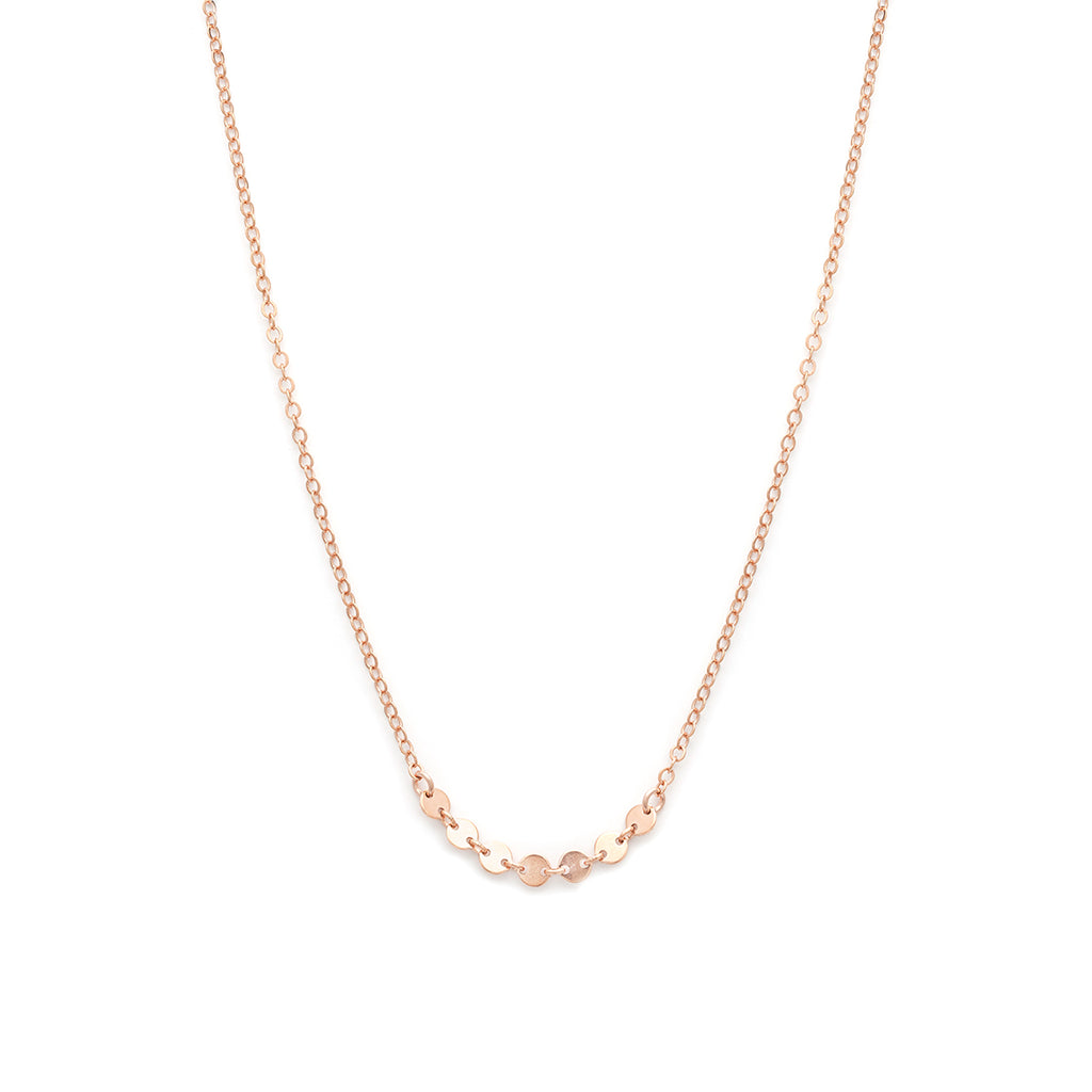 Coin Necklace - Rose Gold