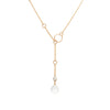 Loft Lariat - Gold with Clear Quartz