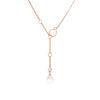 Loft Lariat - Rose Gold with Clear Quartz