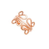 Filigree Stacking Rings - Rose Gold
