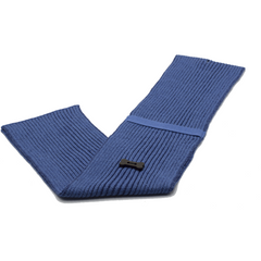 Ribbed Style Scarf - Light Blue/Navy