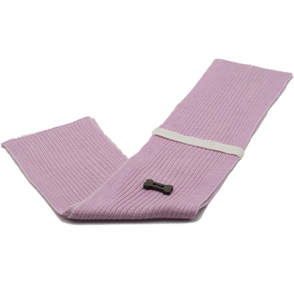 Ribbed Style Scarf - Light Pink/White