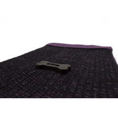 Ribbed Style Scarf - Black/Purple