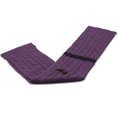 Cable Knit Style Scarf - Purple/Charcoal Grey