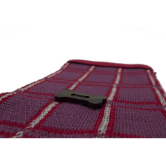 Jacquard Knit Style Scarf - Red/Maroon/Heather Grey