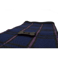 Jacquard Knit Style Scarf - Charcoal/Navy/Purple