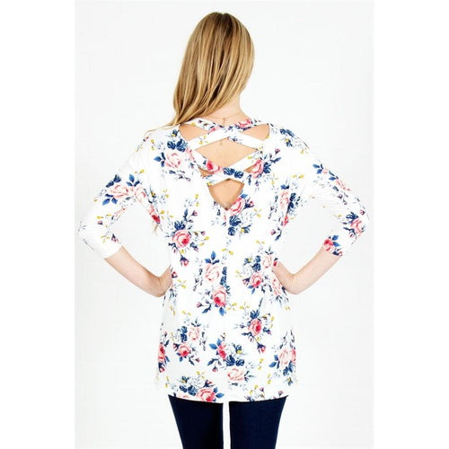 Floral Crossback Top
