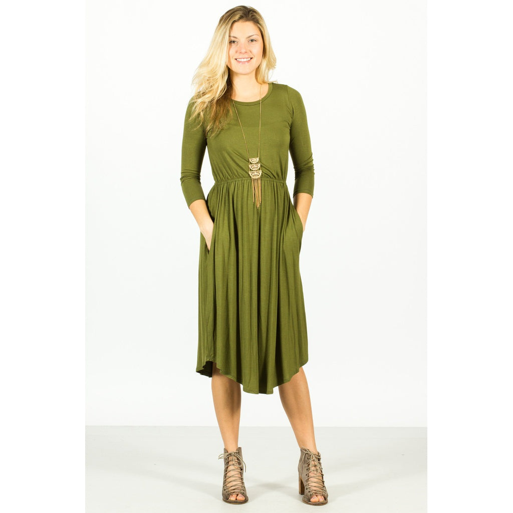 Pocket Midi Dress