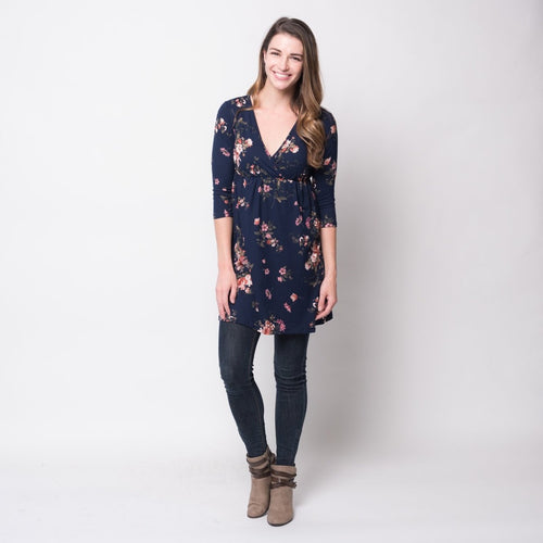 Floral Wrap Tunic