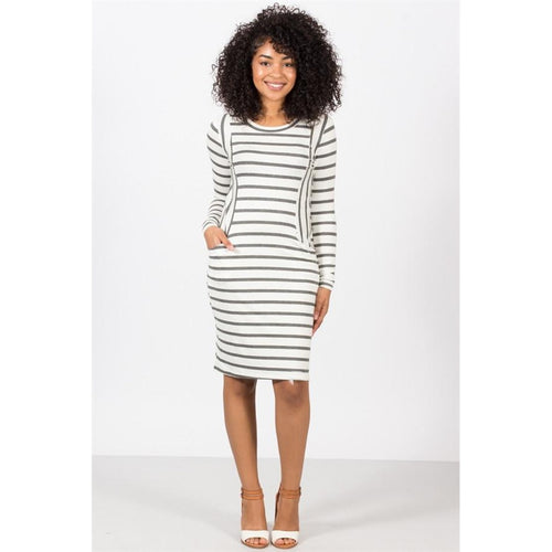 Stripe Contrast Pocket Midi