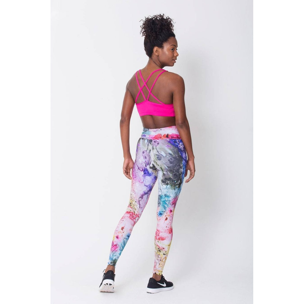 Watercolor Print Fitness Leggings