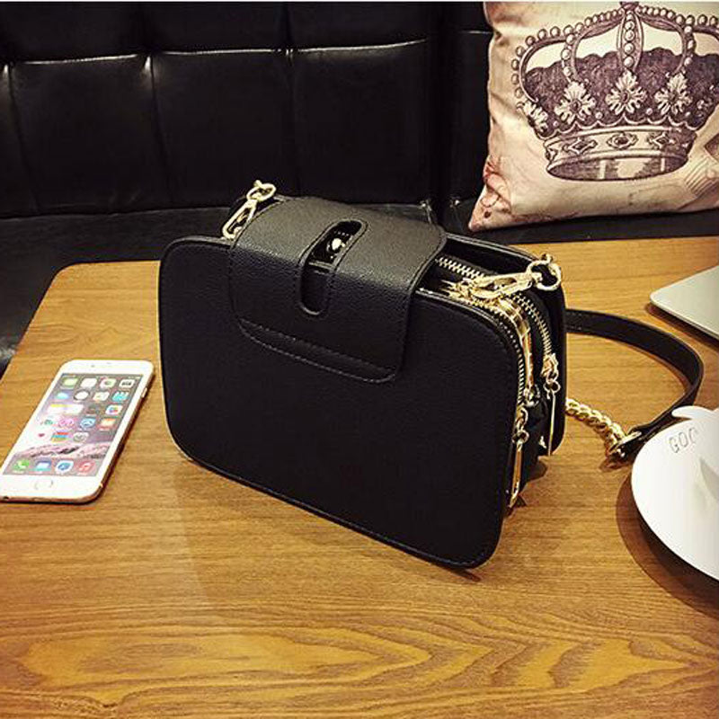 ab14093465 2018 Spring New Fashion Women Shoulder Bag Chain Strap Flap Designer  Handbags Clutch Bag Ladies Messenger Bags With Metal Buckle