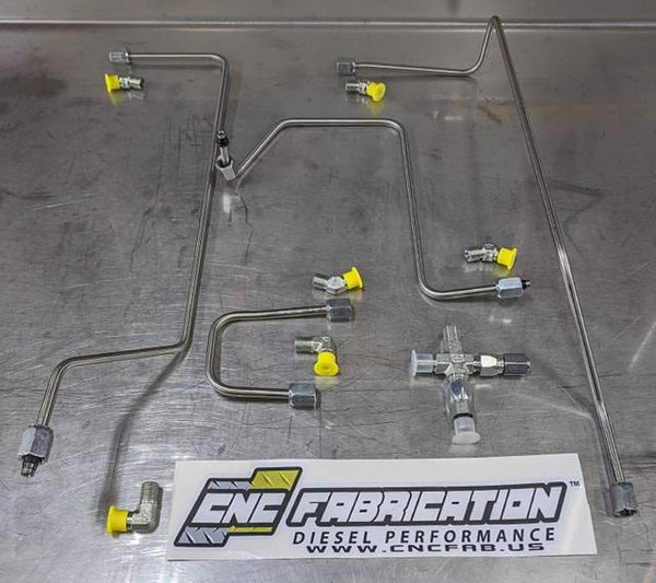 CNC Fabrication '99-03 7.3L 4-Line Feed Fuel Line Kit