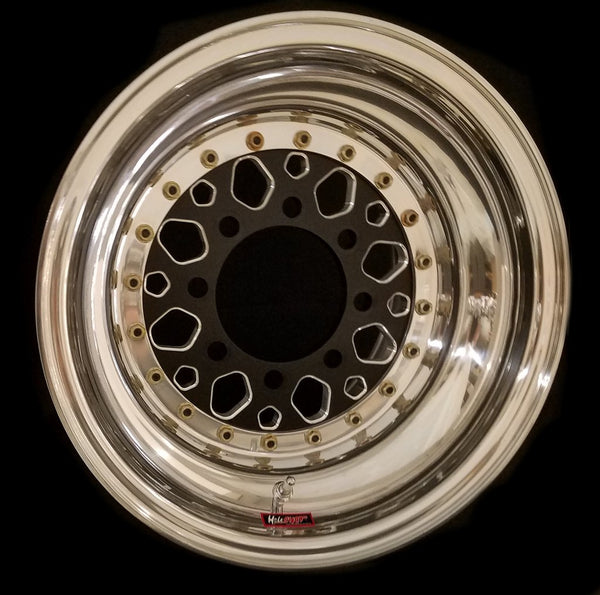 "Hole Shot 15"" Pentastar 8 Lug 3-PC Wheel"