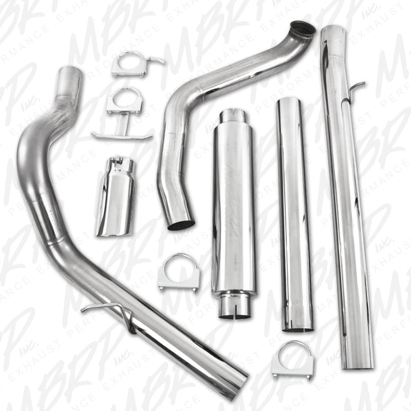 "MBRP 4"" Pro Series Turbo-Back Exhaust System (With Tip) 99-03"