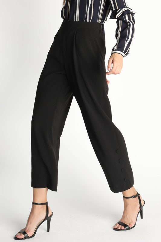 Crop Button Detail Pant