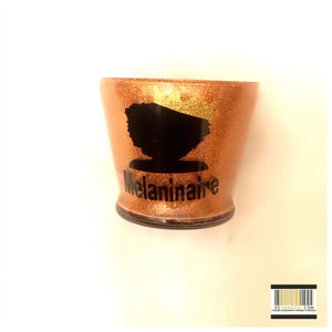 """Melaninaire"" Gold Short Makeup Brush Holder"