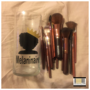 """Melaninaire"" Tall  Makeup Brush Holder"