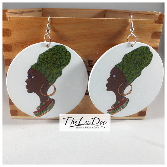 Mixed Design Wooden Earrings