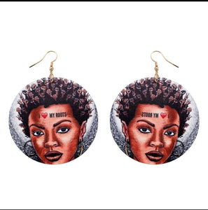 """I Love MY Roots""  Earrings"