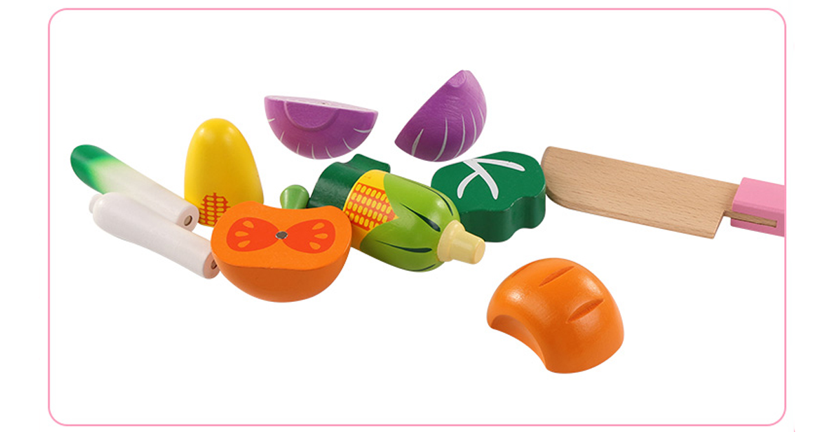 Wooden Kitchen Toys - Miniature Food Toys