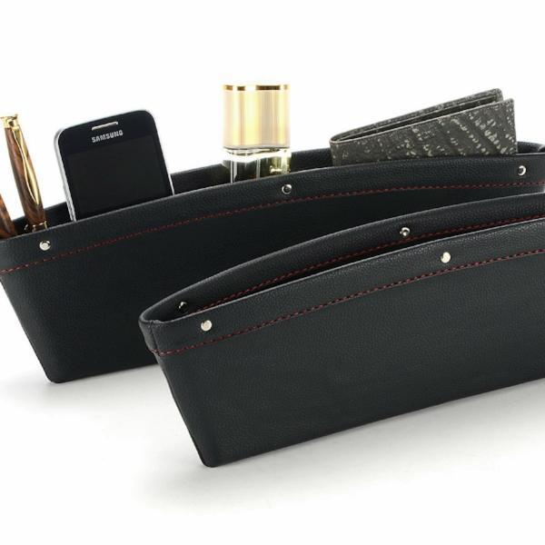 Leather Car iPocket Organizer - 2 Pack - Best Seller - Black Friday Special - Deal Ends Soon