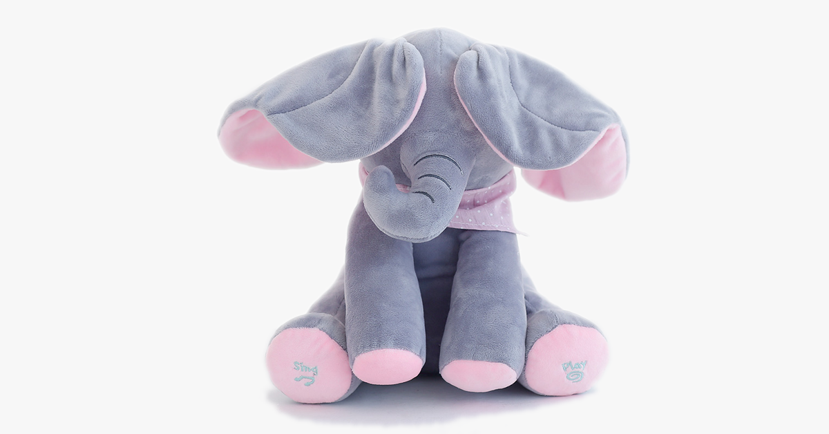 Magic Peek-A-Boo Elephant Push Doll