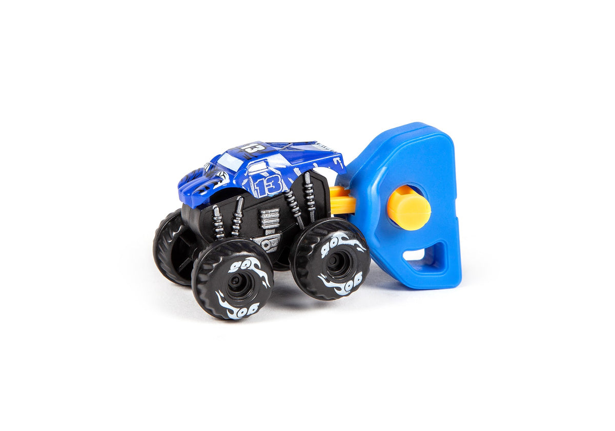 Nano Monster Power Launchers Spring Key Launcher Mini Toy Truck 3 Pack
