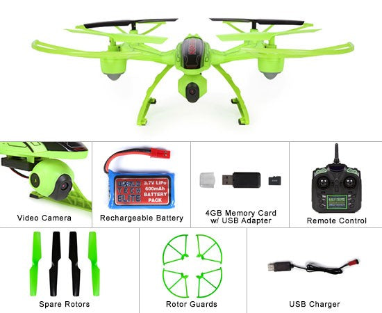 Elite Mini Orion Glow-In-The-Dark 2.4GHz 4.5CH HD RC Camera Drone