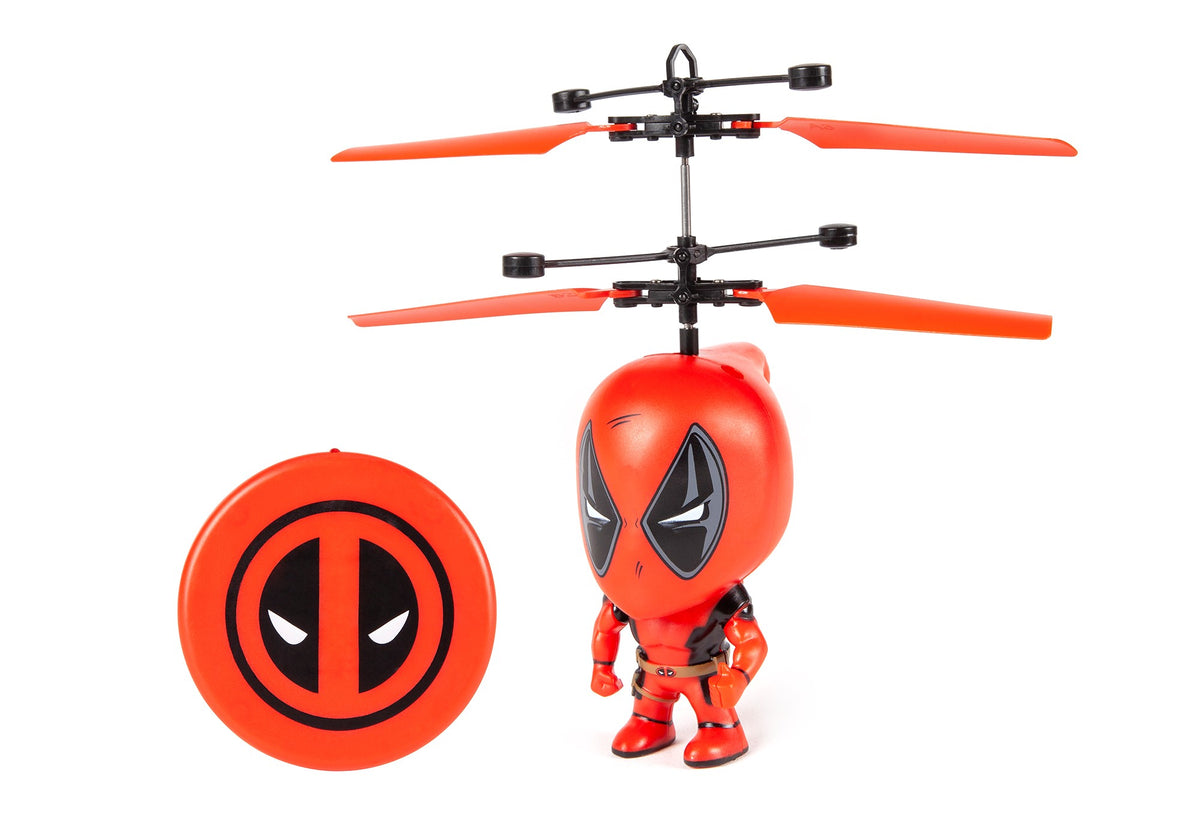 Marvel 3.5 Inch Deadpool Flying Figure IR Helicopter