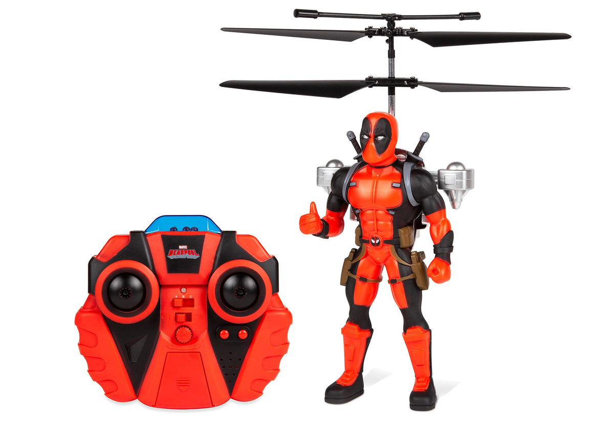 Marvel Deadpool 2CH Jetpack Flying Figure IR Helicopter