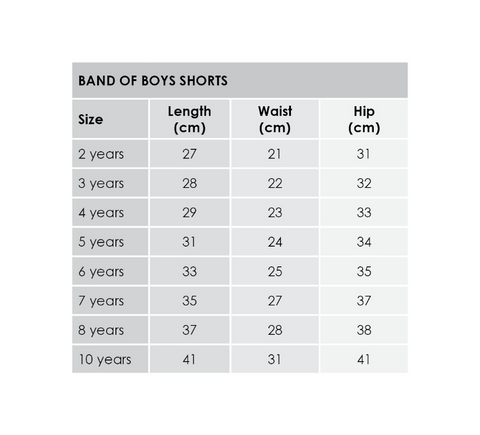 band-of-boys-shorts-size-guide